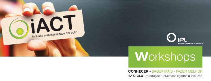 Imagem de cabeçalho dos Workshops do iACT