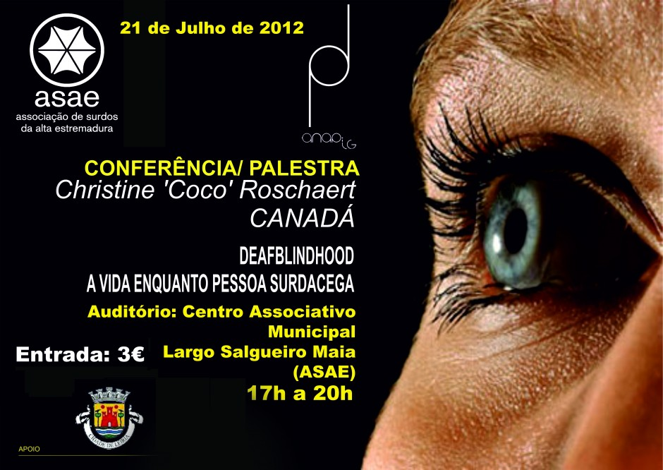 cartaz sobre conferência surdocegueira