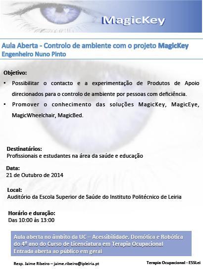 Aula Aberta - – Controlo de Ambientes com o projeto MagicKey